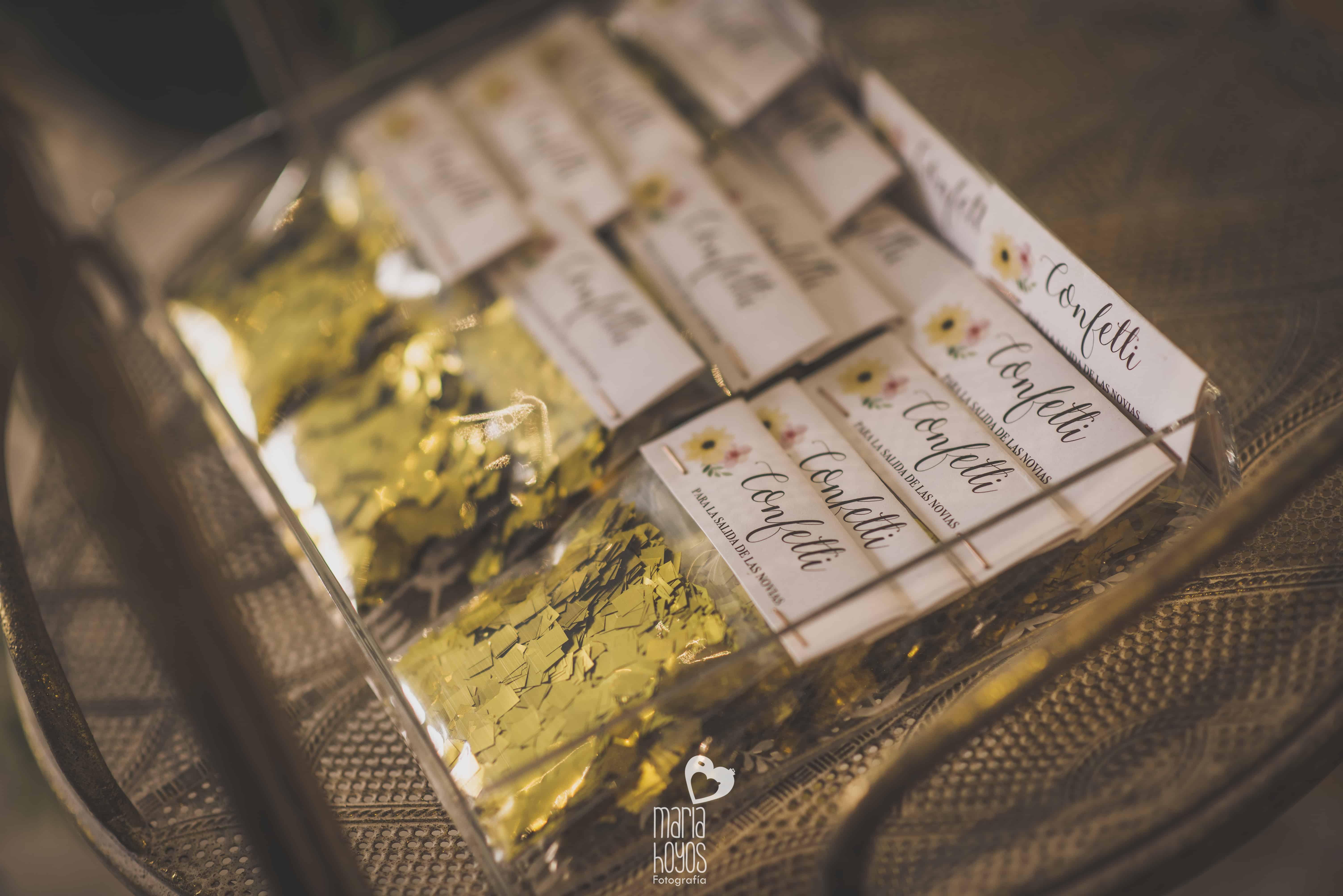 confetti oro boda personalizado LOVE&FEST